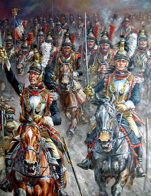 """""""Cuirassiers at Waterloo"""", A.F. Telenik"""