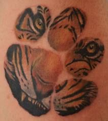 Tiger tattoo design--just need to add the fish hook on the bottom.