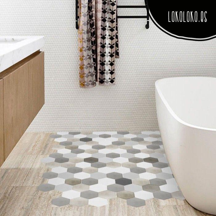 17 mejores ideas sobre piso de baldosas para cocina en - Suelo vinilico para bano ...