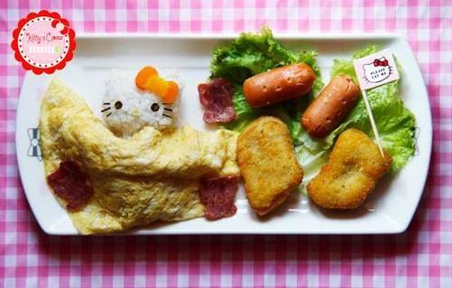 Hello kitty food at kitty s corner cafe jakarta indonesia