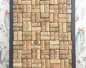 Wine cork board, notice board, cork board, photo display, framed cork board, large cork board, office decor, home organisation, home office