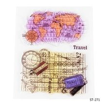 World MapTransparent Clear Silicone Stamp/seal for DIY Scrapbooking/photo Album Decorative Clear Stamp Sheets.(China (Mainland))