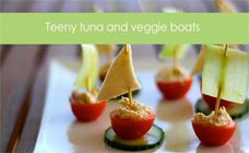 Tuna and veggie boats recipe - Party food