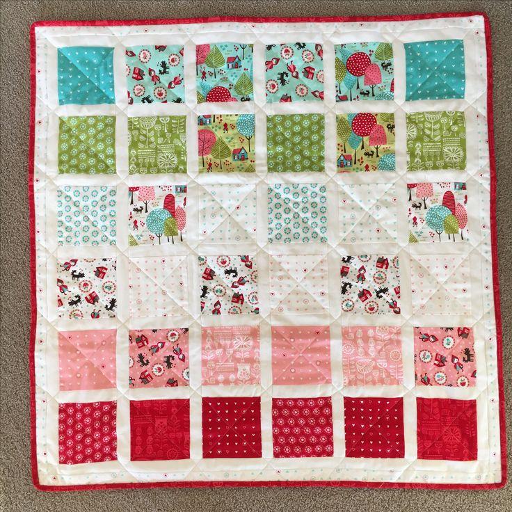 Lil Red colour gradient quilt