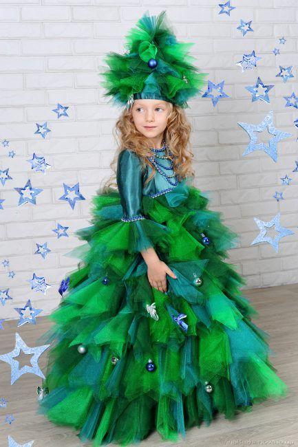 Позитивные детские костюмы в виде ёлочки для настоящих модниц