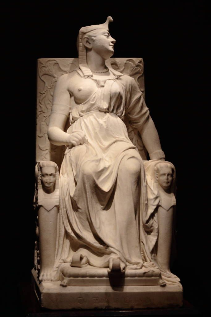 "Mary Edmonia Lewis (ca. July 4, 1844–September 17, 1907) was the first African American and Native American woman to gain fame and recognition as a sculptor in the international fine arts world. She was of African American, Haitian and Ojibwe descent. This sculpture of white marble is ""Death of Cleopatra."". It is in the Smithsonian."