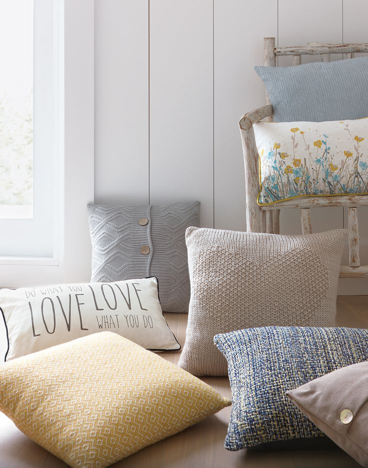 Do what you love, love what you do - something we should all live by! Bring this inspirational message into your home and accessorise your sofa with these gorgeous cushions