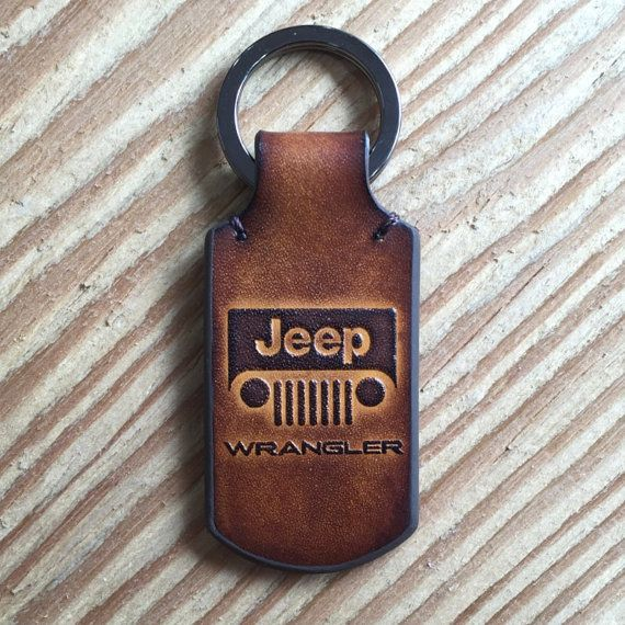 Jeep wrangler leather keychain. by HarisGomtang on Etsy