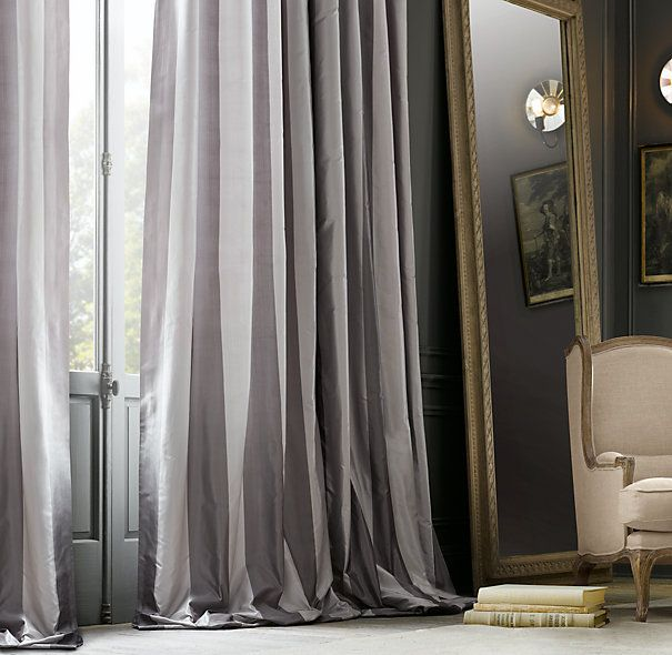 Drapes def making these home decor madness for Restoration hardware silk curtains