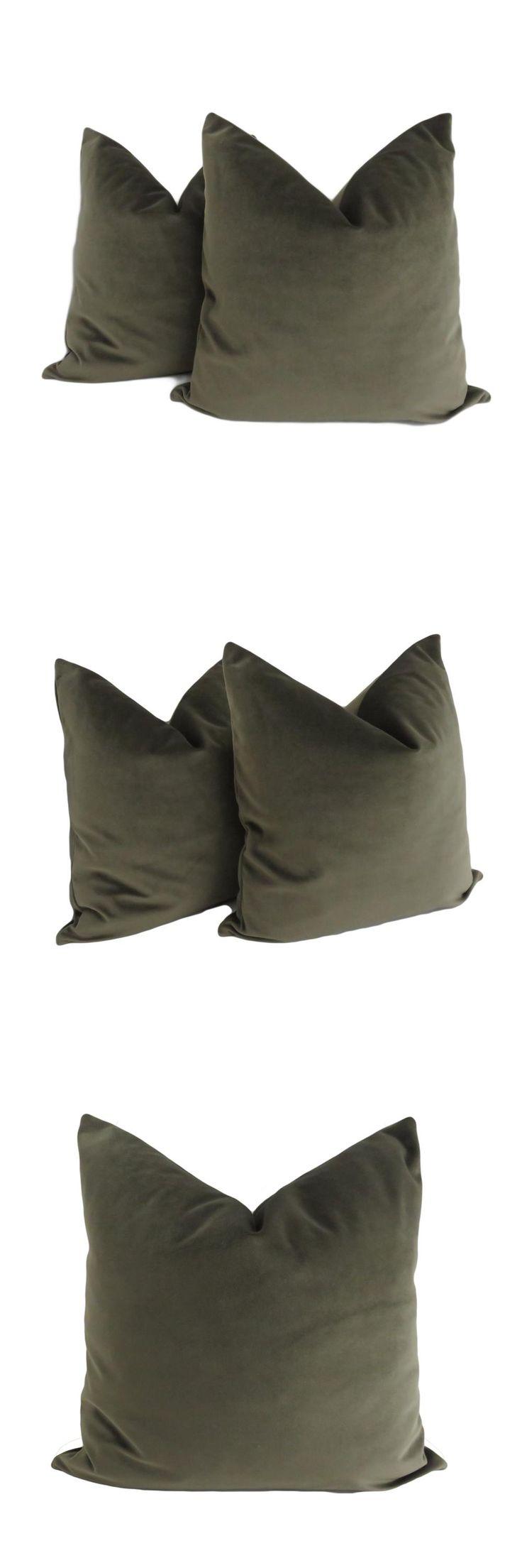ESSIE HOME Luxury Moss Green Dark Green Cushion Cover Pillow Case Lumber Pillow Case Velvet