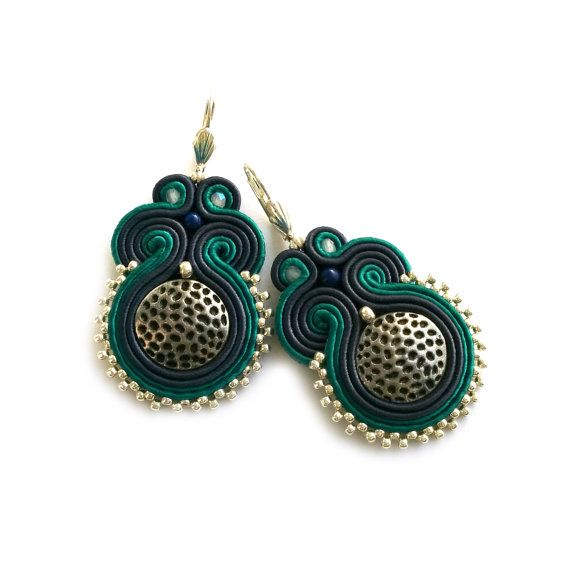 Birthday gift for wife  Gift for girlfriend Soutache by SaboDesign