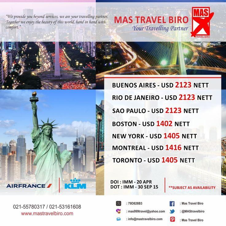 BREAK TIME ON AMERICA. Sedang mencari tiket penerbangan promo? Cek promo dari Mas Travel Biro yang satu ini travelers. Info : 021-55780317 / 021-53161608