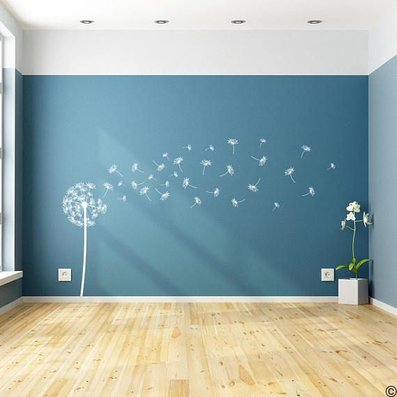 Dandelion The Sophia Vinyl Wall Decal With 31 Diy Floating Seed