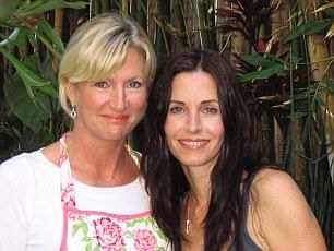 Celebrity chef Kate McAloon (pictured left) is renowned for her famed clients including Courtnety Cox (right)