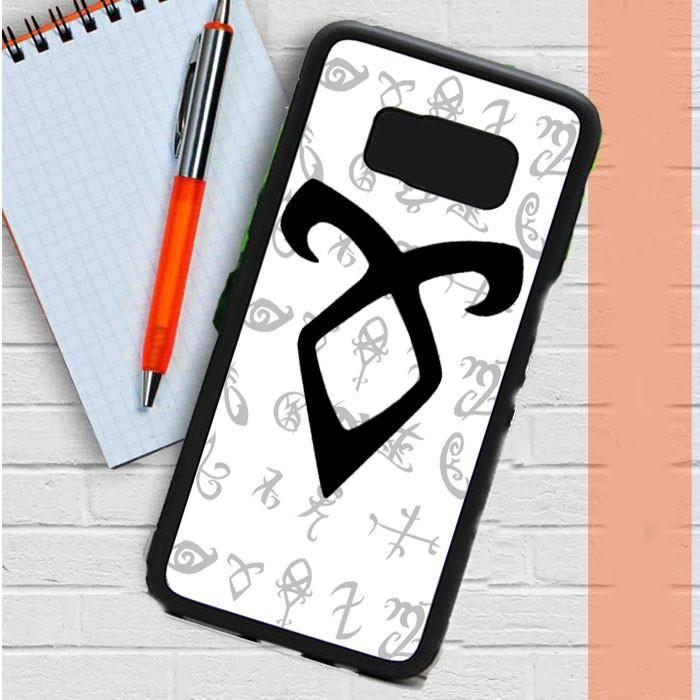 Mortal Instrument Logo White Samsung Galaxy S8 Plus Case Dewantary