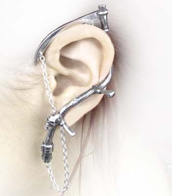 Alchemy Gothic The Harvester Cuff Earring Angel Clothing
