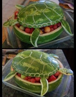 Watermelon Sea Turtle...these are the BEST Watermelon Ideas!