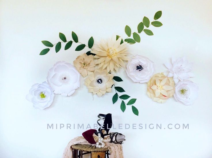 Wall Decor Paper 34 best paper flower wall decor images on pinterest | paper flower