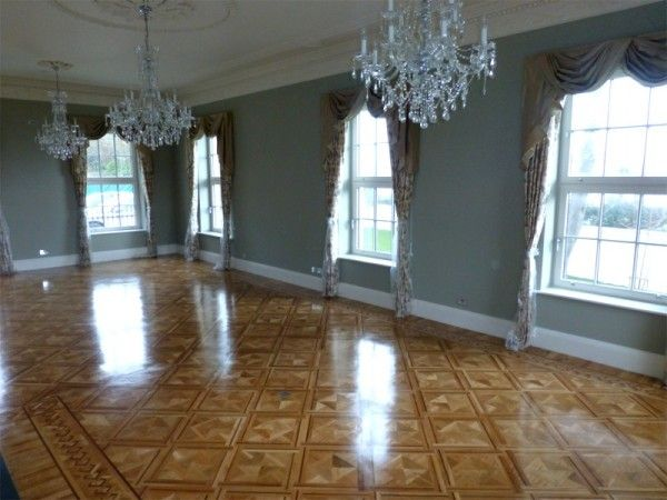 Diamond Basketweave Parquet Flooring in Oak & Walnut designed and fitted by MM Parquet Flooring & Carpentry Service, Carlow & Dublin, Ireland