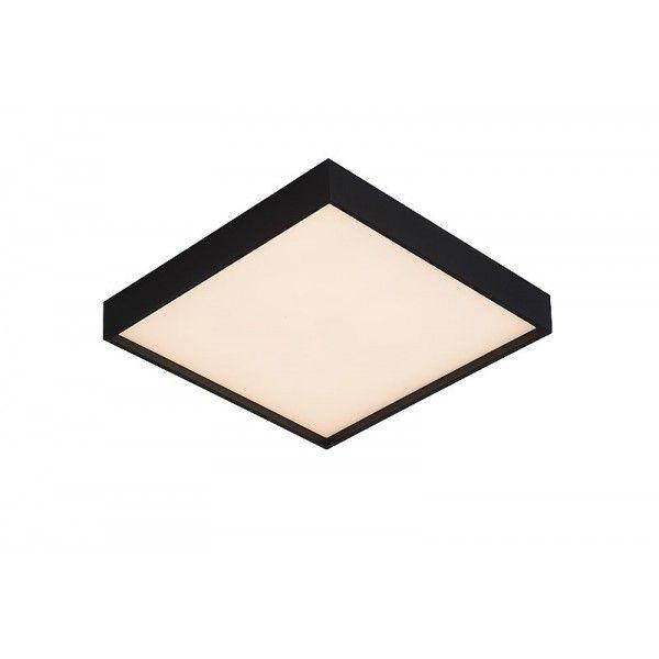 Sky-Led Square D31 cm - Lucide - kolor czarny