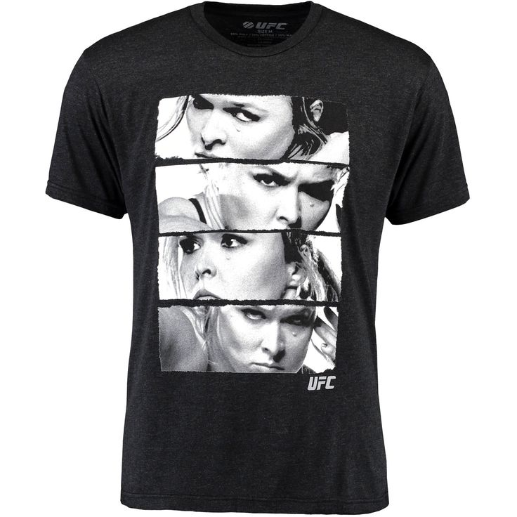 Ronda Rousey UFC Stacked T-Shirt - Black - $23.99