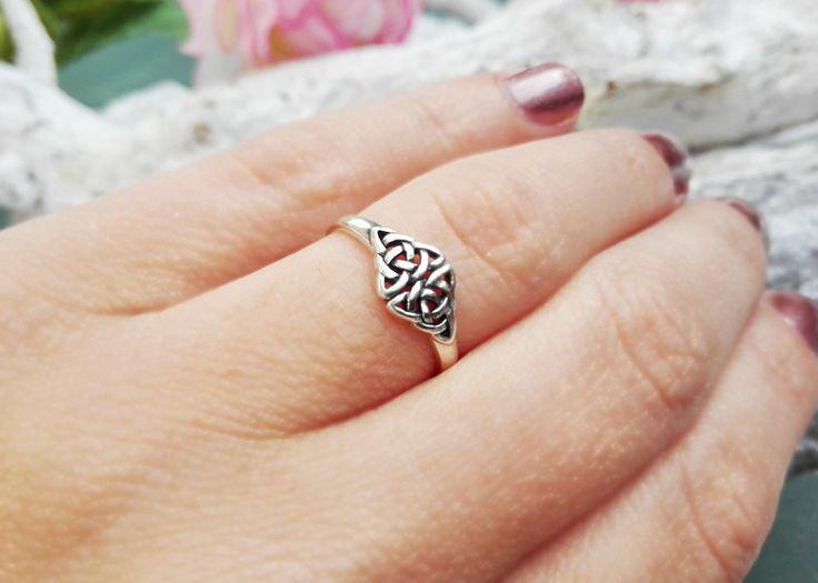 Ring - Keltische knopen  - 925 STERLING ZILVER