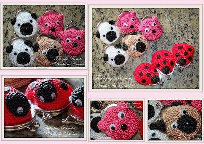 * Pérolas do Crochet: Porta moedas de croche com fecho da vovó
