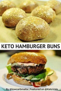 Home Made Low Carb Keto Gluten Free Hamburger Buns