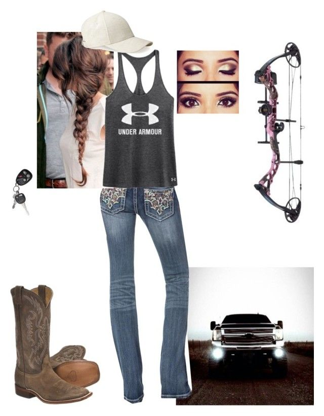 """""""Going out. Having fun"""" by tjohnson0129 ❤ liked on Polyvore featuring Miss Me, Under Armour, Whistles, Nocona and Cabela's"""