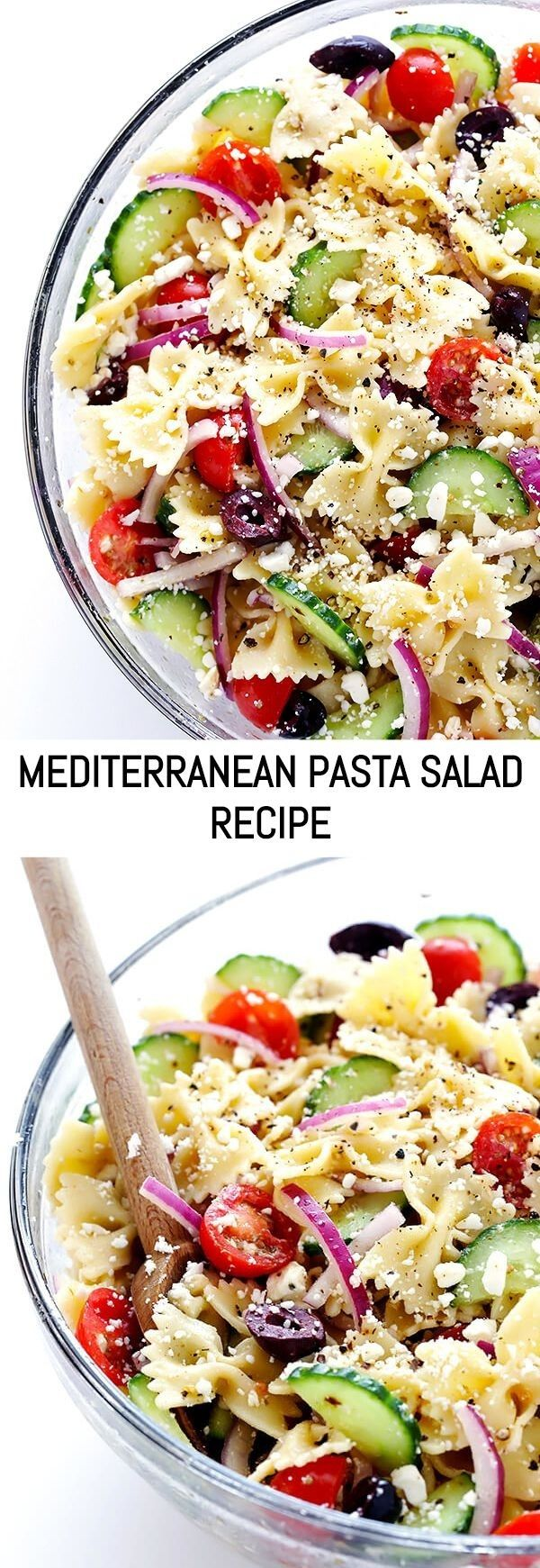 This Mediterranean Pasta Salad recipe is quick and easy to make, it's tossed w…   – Nudelsalate