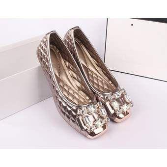 Compra 2016 Zapatos planos de las mujeres diamante de imitación PU suela de goma online ✓ Encuentra los mejores productos Flats Ryan Fashion en Linio México ✓