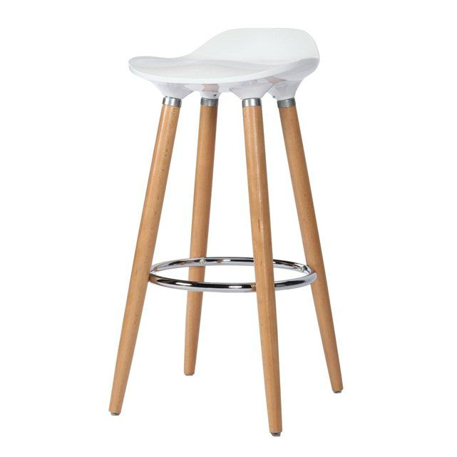 tabouret de bar italien blanc rendez vous deco prix. Black Bedroom Furniture Sets. Home Design Ideas