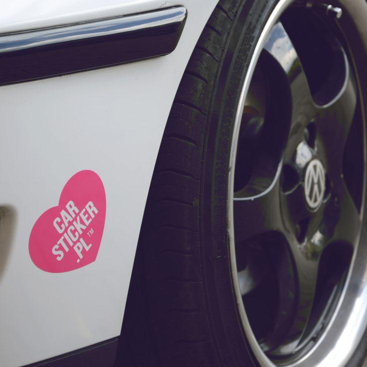 Firmowe serduszko.  #heart #pink #car #sticker #carsticker