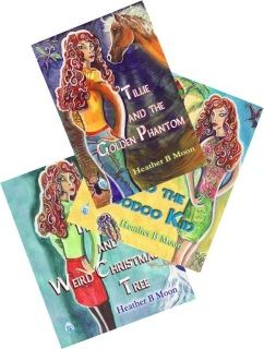 Tillie's Adventures- Suddenly, she encounters a ghost horse in the middle of the night. Then she helps rid the Caribbean Islands of the evil Het Scarrow for good.  But, can she help the weird Christmas tree characters and stop the world from crumbling?