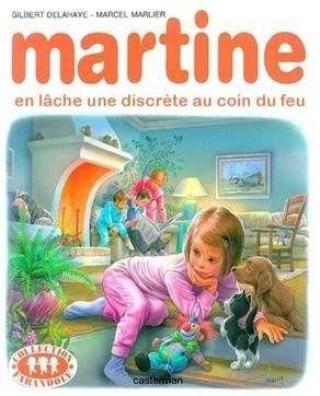 Martine does a discrete fart near the fire