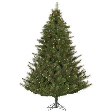 Vickerman Pre-Lit 4.5' Modesto Mixed Pine Artificial Christmas Tree, LED, Warm White Lights, Green