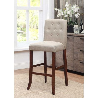 kinfine tufted parson bar stool wayfair