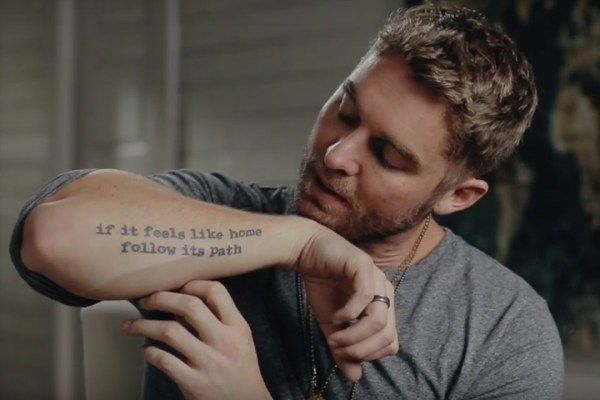Brett young explains the meaning behind his tattoos watch for Country music tattoos