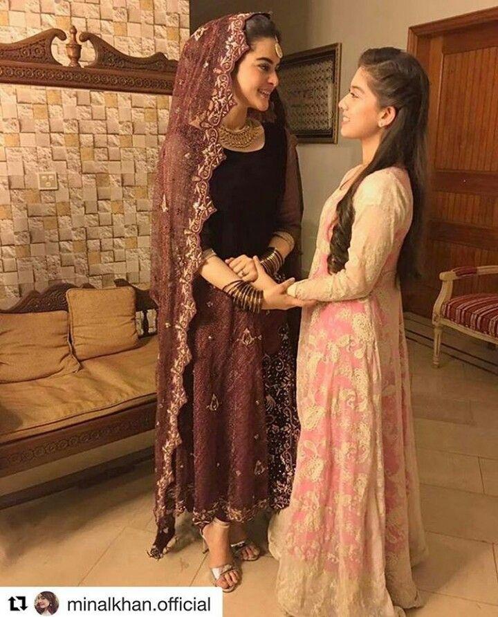 #MinalKhan with#ArishaRazi