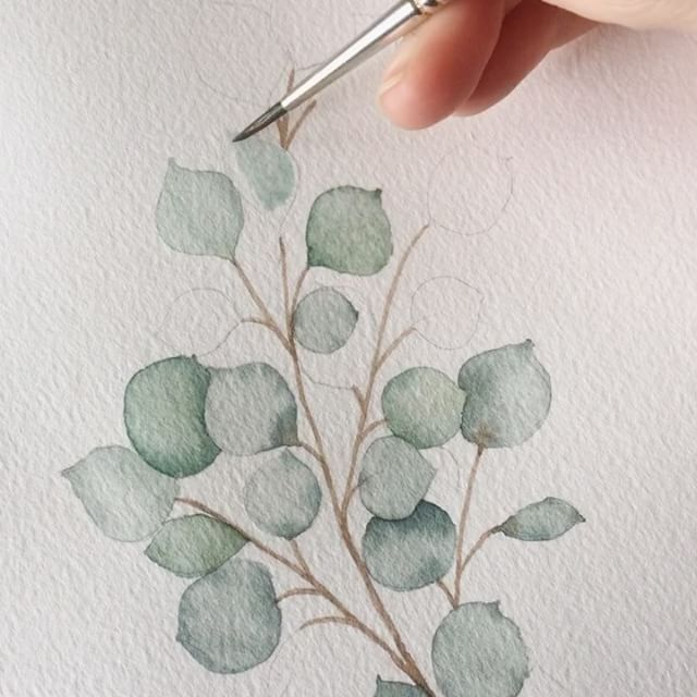 """6,272 Me gusta, 70 comentarios - Jenna Rainey (@monvoirco) en Instagram: """"Another shaky vid of me painting some silver dollar eucalyptus! Check out my stories for a full…"""""""