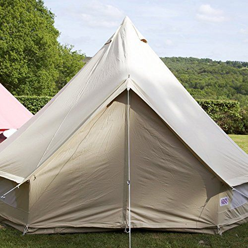 Boutique Camping 6m Sandstone Bell Tent With Zipped in Ground Sheet Single Door