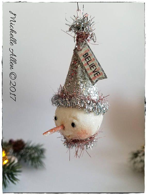 Snowman head ornie
