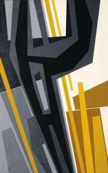 Gualtiero Nativi - Posizione estensionale, 1963 - Tempera su tela, cm. 160 x 100 - FerrarinArte