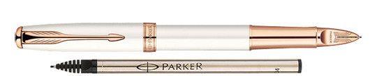 Parker Sonnet Feminine Pearl w/ Rose Gold Trim - Free Ink Refill