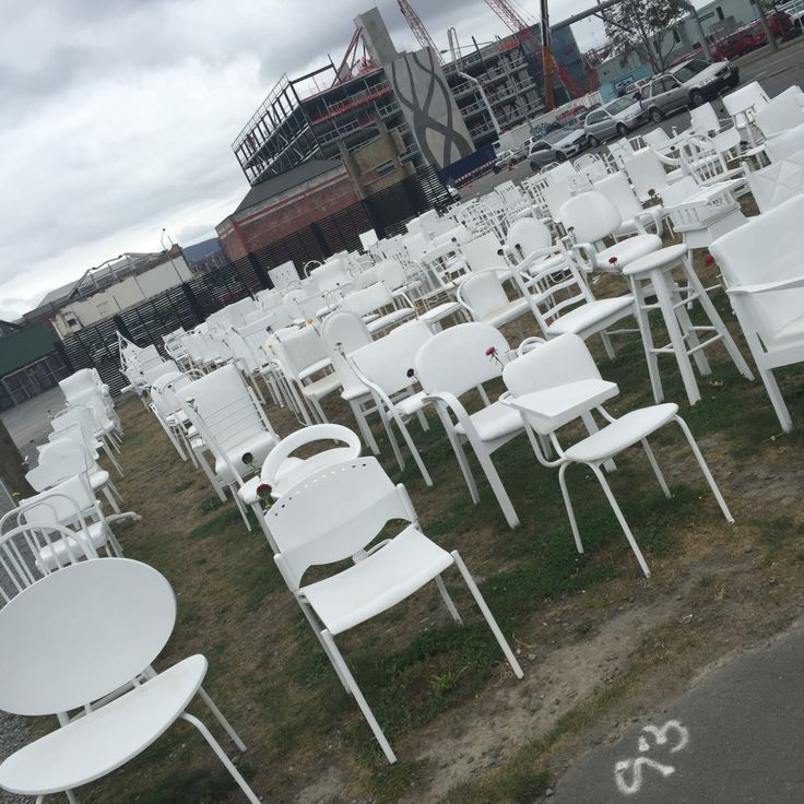 chairs representing the number of deaths in the Christchurch 2011 Earthquake