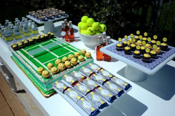 Tennis Theme Garden Party Idea