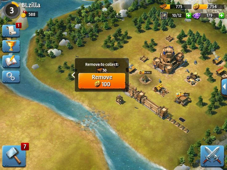 Siegefall | Tycoon Phase | Removing Resources | UI HUD User Interface Game Art GUI iOS Apps Games | Gameloft | www.girlvsgui.com
