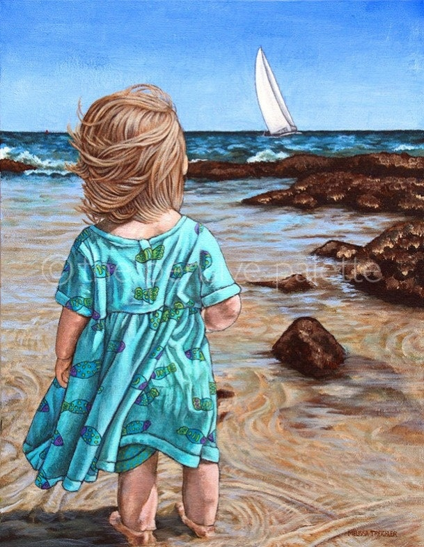 By The Sea Print by ThePensivePalette on Etsy http://www.pinterest.com/aliceknueppel/beach/