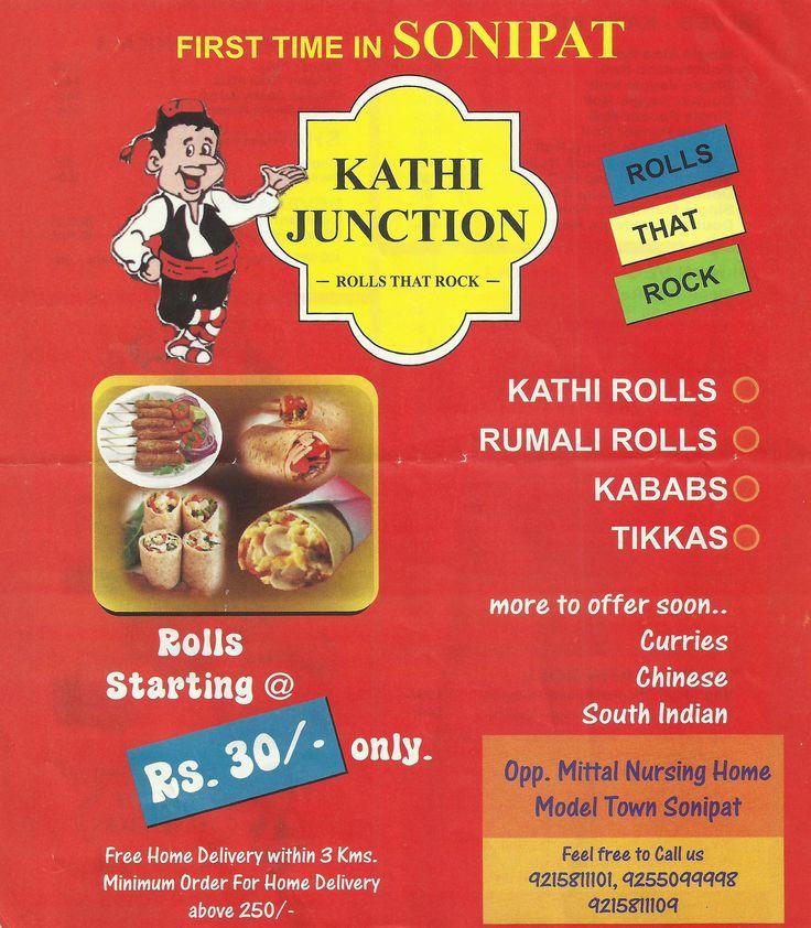 Kathi Junction offers kabab, tikka veg food junk food in Sonipat, veg food wraps rolls, sandwich fast food, beverages. http://www.apnasonipat.com/kathi_junction.php