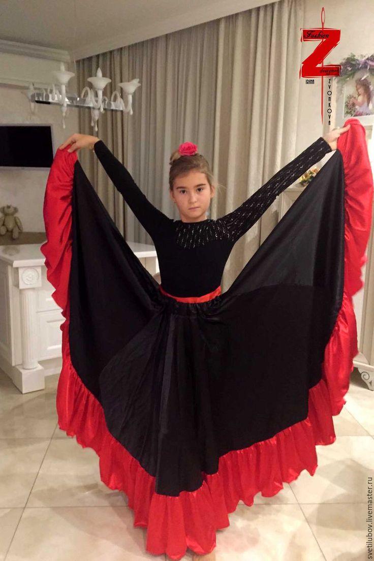 Купить Цыганская юбка. Фламенко. - Цыганский костюм, костюм цыганский, цыганские костюмы, костюмы цыганские